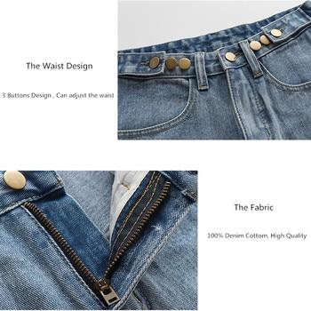 Streetwear High Waist Wide Leg Denim Shorts   6