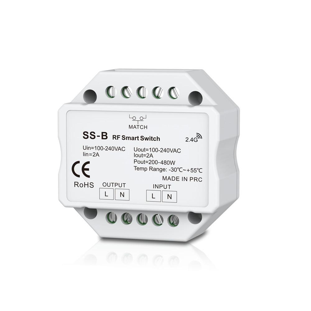 AC Triac RF Smart Switch With Relay Output Dimmer Switch AC Triac Wifi Light Mini Amplifier Switch Controller 100-240VAC