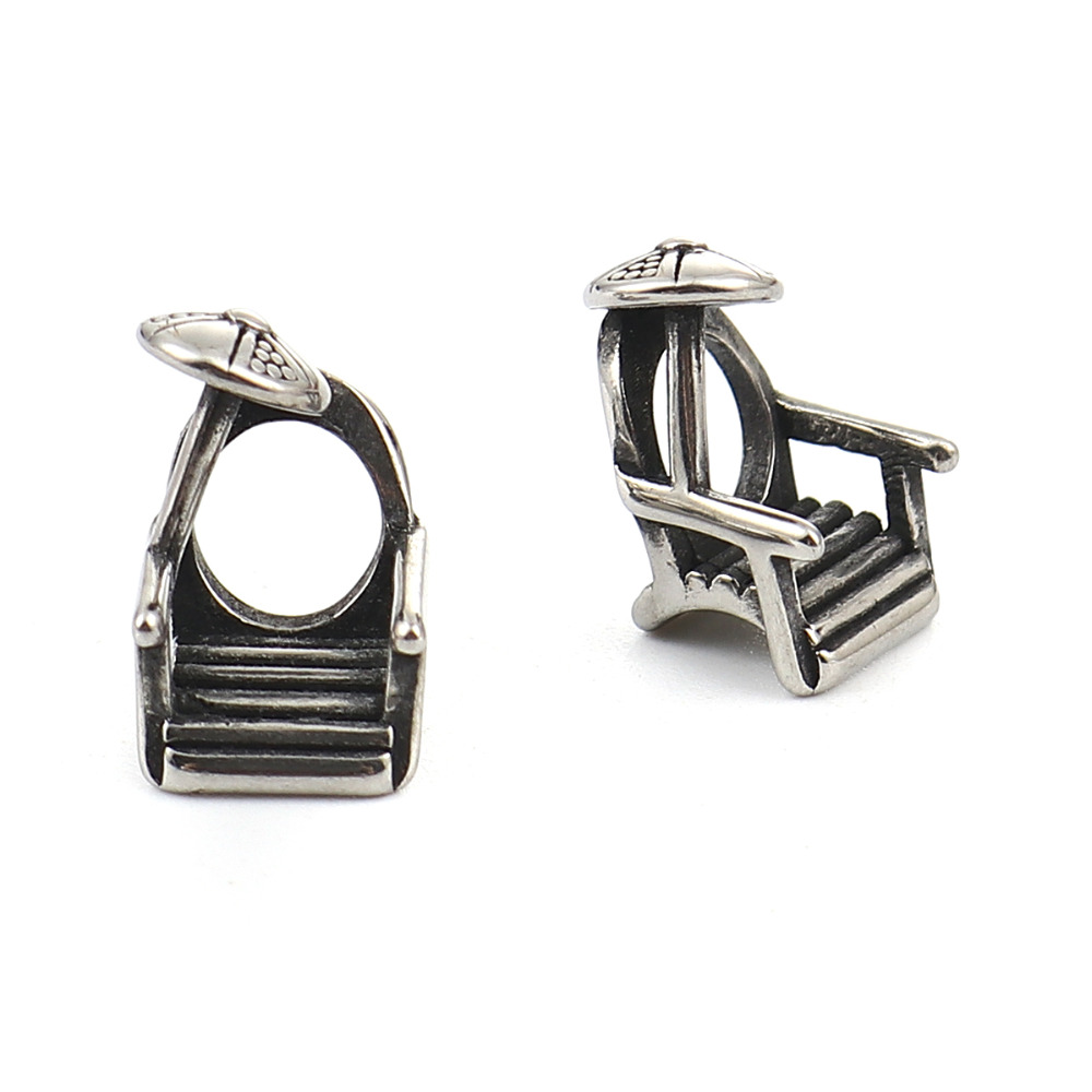 4/8 2 Pcs Suitable For Men And Women Of All Ages In All Seasons Sunny Doreen Box Vintage 304 Stainless Steel 3d Beads Chair Antique Silver Jewelry 14mm X 9mm 3/8 Hole: Approx 5.6mm