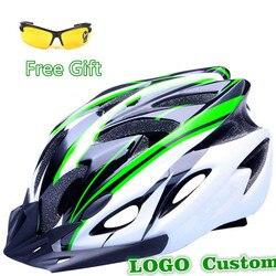 Upgrade 11 colors ultralight cycling helmet cycling glasses bicycle helmet women men integrally molded bike helmet.jpg 250x250