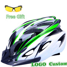 Upgrade 11 Colors Ultralight Cycling Helmet + Cycling Glasses Bicycle Helmet Women Men Integrally-molded Bike Helmet G Brand