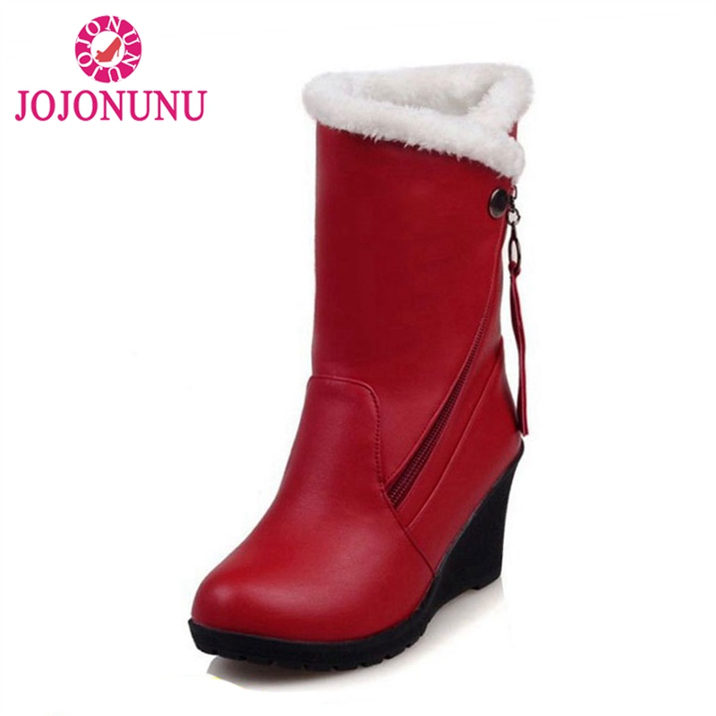 FITWEE Footwear Calf-Boots Women Shoes Thickened Snow-Botas Winter High-Quality Fur Warm