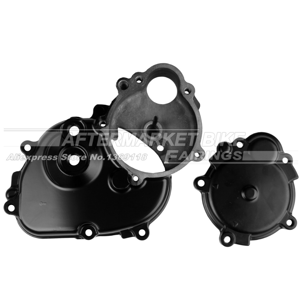 ФОТО Motorcycle RIGHT Crankcase For Kawasaki ZX6R 2009 2010 2011 Engine Stator Crank Case Generator Cover