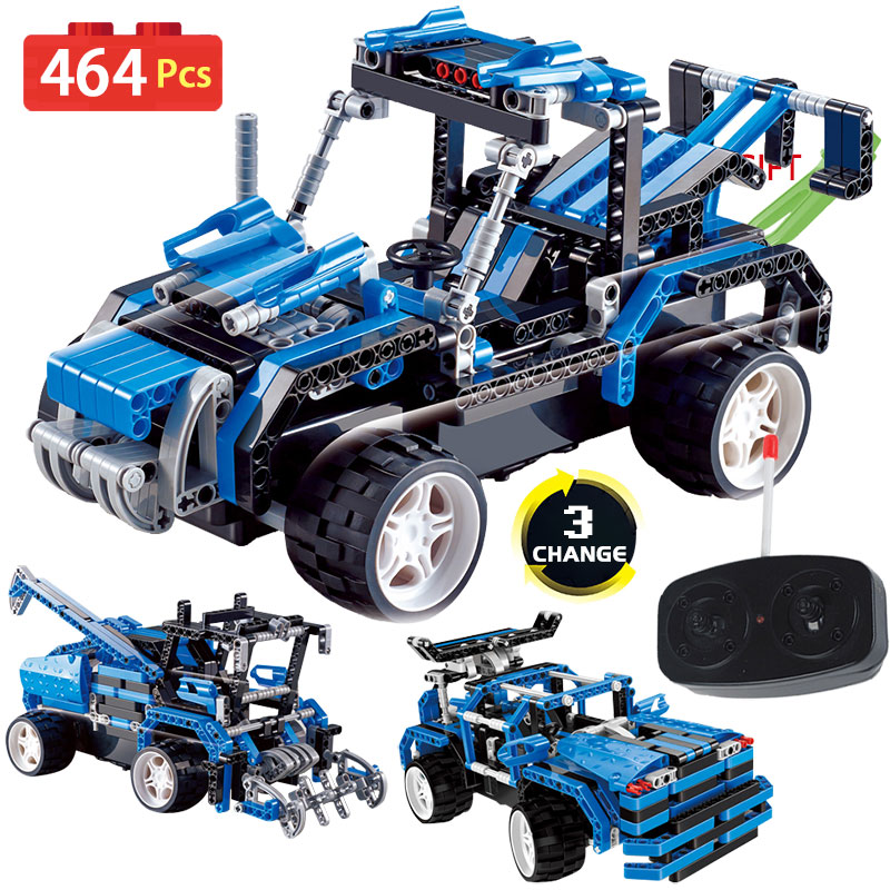 3 IN 1 Technic Series Remote Control building blocks RC Simulation Car DIY toy compatible LegoINGlys Vehicle Toy for children 2 in 1 rc car compatible legoinglys radio technical vehicle green suv control blocks assembled blocks children toys gift