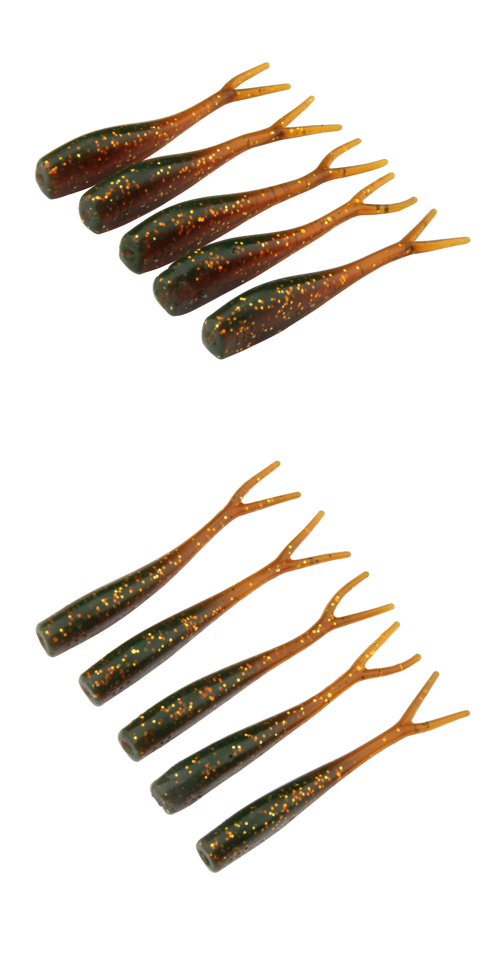 5cm 1g Mini Lures Soft Bait Fishing Worms 4colors OEM Acceptable Soft Fishing Lure Swimbaits Split Double Tail Shad-12 Per Bag (6)