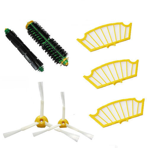 цены на Track Bristle & Flexible Beater Brush 3-Armed Filter for iRobot Roomba 500 Series Vacuum Cleaner 520 530 540 550 560 в интернет-магазинах