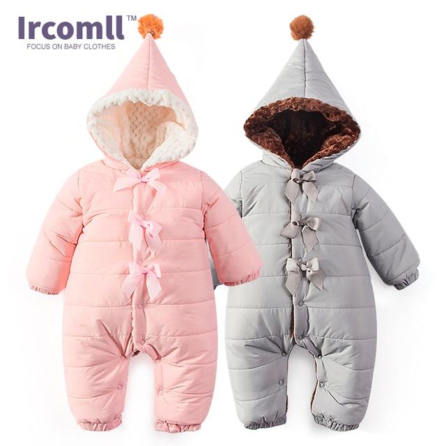 3914d00b1 Bebé Otoño Invierno mameluco interior Suede con capucha cálido suave bebé  pijamas para niños niñas ropa