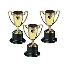 12PCS LOT Plastic gold cup trophy Kids sports medal Winner medal Educational props reward Creative gift