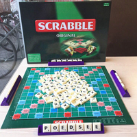 Original Scrabble Board Game English Crossword Spelling Game For Kids English Russian Korean Instructions