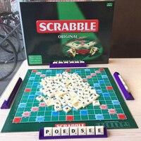 Original Scrabble Board Game English Crossword Spelling Game For Kids English Russian Korean Instructions