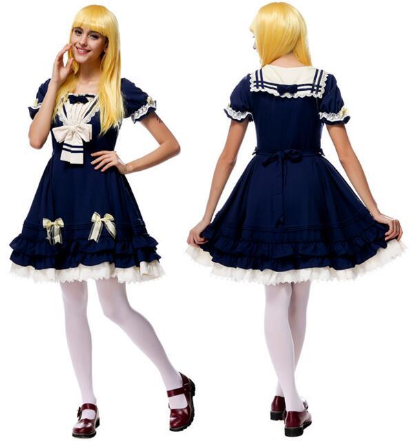 Mode japonais école uniforme amour en direct cosplay Costume Anime fille femme de chambre Lolita robe anastasia fantasia halloween costumes