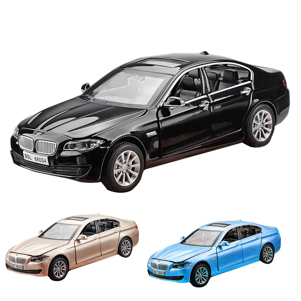 For 1:32 BMW 535i Alloy Model Toy Car Acousto-optic Pull Back Function Car Model Boys Diecast Metal Vehicle Gift 1 32 alloy pull back toy car model musical