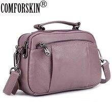 COMFORSKIN Premium 100% Cowhide Leather Large Capacity Women's Totes New Arrivals Women Leather Handbag Hot Brand Shoulder Bag comforskin brand premium 100