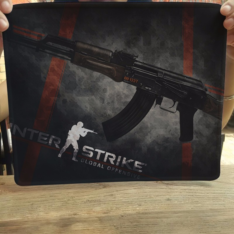 Black background CS AK 47 Mouse Pad Computer Mousepad CS GO Large Gaming Mouse Mats To Mouse Gamer Anime Rectangular Mouse Pad stitched edge rubber cs go large gaming mouse pad pc computer laptop mousepad for apple logo style print gamer speed mice mat