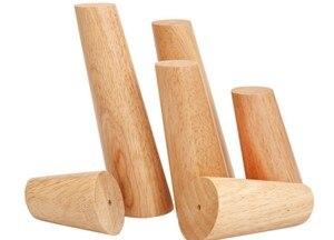 4 قطعة/الوحدة البلوط الصلبة أريكة خشبية الساقين قدم يميل طاولة القهوة الأثاث قدم مستوى w/لوحات معدنية مجلس الوزراء الساقين متعددة -حجم B519