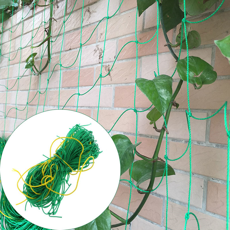 1.8m*1.8m Garden Fence Nylon Net Plant Growth Climbing Frame Fence Lattice Gardening Net Vegetable Plant Lattice Garden Tools Online Discount