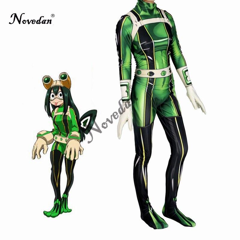 Anime mon héros académique Asui Tsuyu Boku pas de héros académique Costume de Cosplay