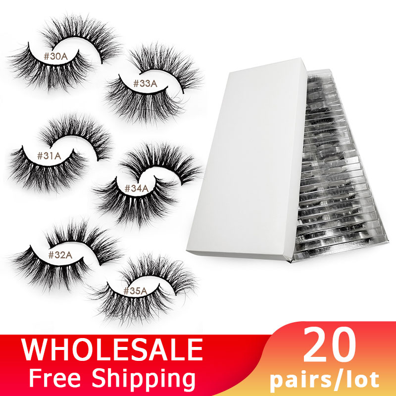 SHIDISHANGPIN 20 Pairs Mink Lashes Wholesale False Eyelashes Full Mink Eyelashes Wholesale Lashes Extensions Makeup Maquiagem