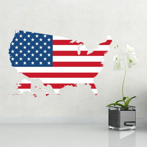 Америка тұсқағазы қабырғалық винил - Үйдің декоры - фото 1