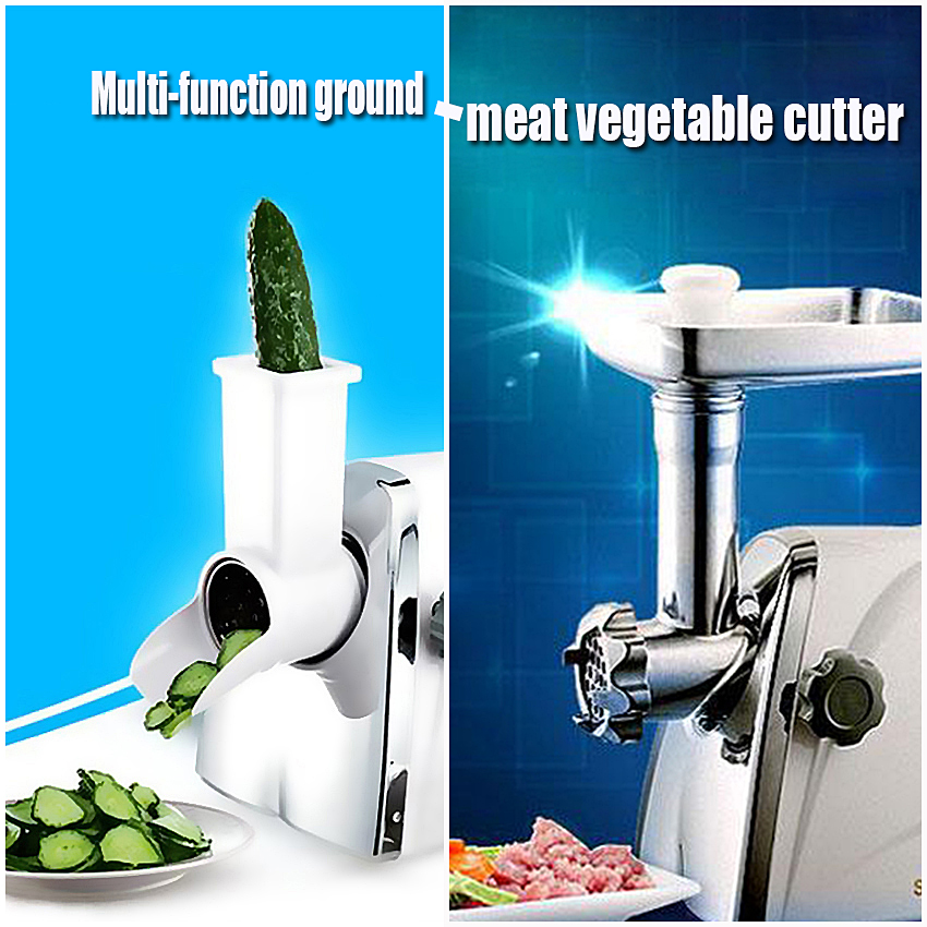 1PC New Household electric multi-function meat grinder / vegetable cutter cooking machine Shell Stainless Meat Mincer commercial stainless steel cutting machine multi function automatic cut pork meat grinder household electric meat cutter 220v