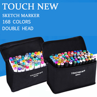 TOUCHNEW 30 40 60 80Color Art Marker Pen Oily Alcoholic Dual Headed Artist Sketch Markers For