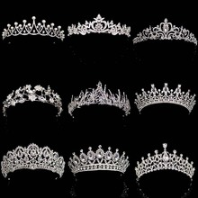 New Diverse Silver Crystal Bride Crowns Fashion Pearl Queen