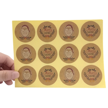 120pcs/lot Santa Claus Kraft Paper Seal Sticker 'Merry Christmas' Scrapbooking Stickers For DIY Diary Note Gift Decoration Label цены онлайн