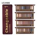 UCANBE Brand New Naked makeup eyeshadow palettes makeup brush 12 earth tone Colors Smoky eye shadow cosmetics Make up kit set
