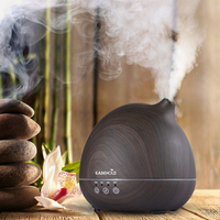 Easehold 400ml Essential Oil Diffuser Humidifier Air Purifier Upgraded Touch Sensitive Panel Full Wood Grain 7