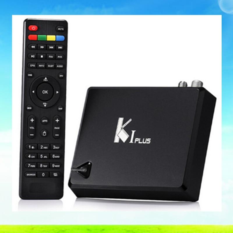 ФОТО 1pcs KI PLUS S2 T2 Amlogic S905 Quad core 64-bit Support DVB-T2 DVB-S2 1G/8G 1080p 4K Android 5.1 TV Box Support Ccamd Newcamd