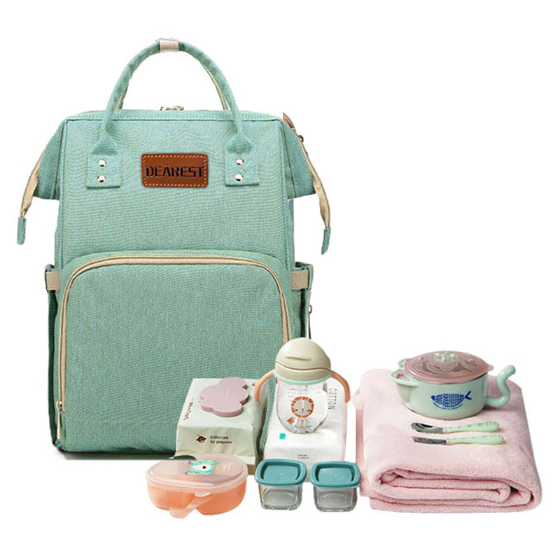 Bolsa de pañales de bebé momia maternidad bebé bolsa de pañales - Pañales y entrenamiento para ir al baño - foto 2