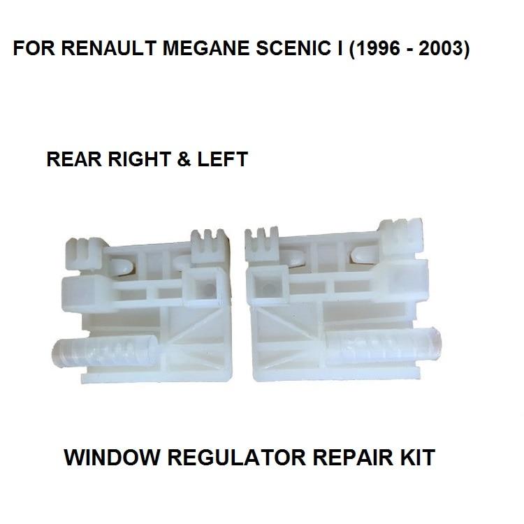 1996-2003 CAR STYLING WINDOW REGULATOR FOR RENAULT MEGANE SCENIC I WINDOW REGULATOR REPAIR CLIP REAR LEFT AND RIGHT SIDE