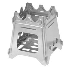 Outdoor Camping Stove Portable Folding Backpacking Wood with Alcohol Tray for Fishing Hiking