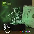 CNHIDEE Novidade Nightlight para Rússia Spartak Futebol Clube USB Lampe RGB 3D LED Toque Lâmpada de Luz como a Iluminação da Casa Futbol