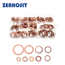 280pcs Professional 12 Sizes Solid Copper Washers Gasket Set Seal Flat Ring Assortment Kit With Box For Hardware Accessories omy 150pcs copper washers set solid copper washer gasket sealing ring assortment kit set with case 15 sizes for hardware tools