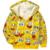 Retail 1 unid! nuevo 2017 chaqueta de la historieta del bebé y de los niños Bob Esponja Niños sudaderas con capucha gruesa capa Caliente niñas niños prendas de vestir exteriores