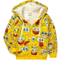 Retail 1pc! New 2017 Children's cartoon jacket baby & kids SpongeBob thick Hoodies sweatshirts girls Warm coat boys outerwear