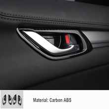 купить 4pcs/set ABS Plastic Chrome Door handle Cover Trim Case Kit Car Accessories Stickers for 2017 2018 2019 Mazda CX-5 CX5 CX 5 по цене 1326.72 рублей
