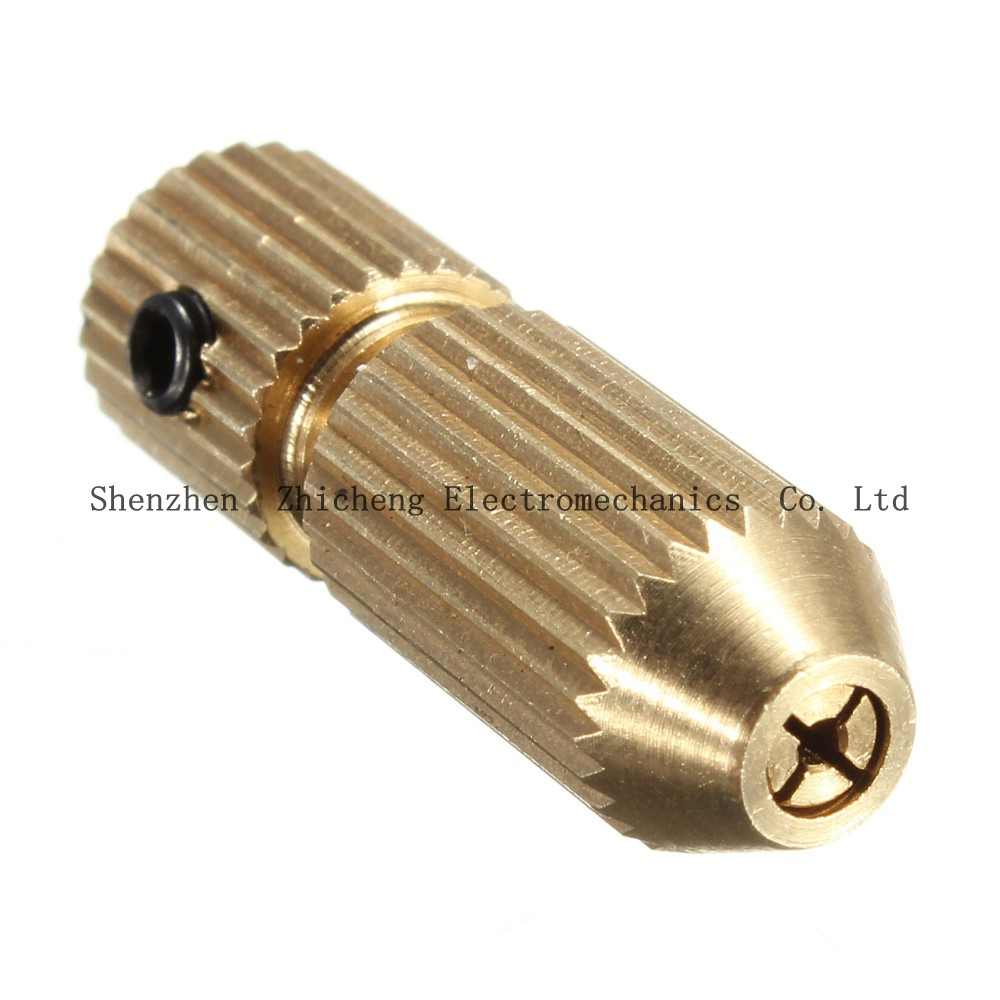 Hot 2.3mm Brass Electric Motor Shaft Clamp Fixture Chuck Mini Small For 0.7mm-3.2mm Drill Micro Drill Bit Clamp Fixture Chuck rapid fixture clamps fixture clamp fastening compactor gh101a