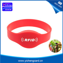 hot deal buy 100pcs waterproof 125khz rfid wristband em4100 bracelet silicone proximity smart card watch type for access control