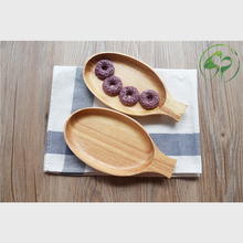 Wooden Salad Plate Dinner plate  Wood Dishes fruit bowl tableware kitchen home supply