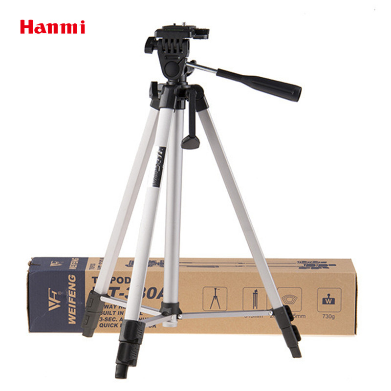 New WT 330A Professional Tripod Portable Lightweight Aluminum Camera Tripod with Carrying Bag Tripod for Canon