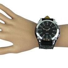 Relojes Mujer модные кожаные часы с большим циферблатом, черные часы, новые мужские кварцевые модные спортивные наручные часы для женщин и мужчин, повседневные часы