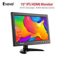 Eyoyo 10 inch 1366x768 HDMI portable usb monitor Kitchen IPS LCD Screen Display VGA Input Remote Control CCTV Camera Monitor