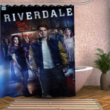 RIVERDALE Shower Curtain Eco-friendly Modern Fabric polyester Custom Bath Curtains Home Decor Curtains(China)