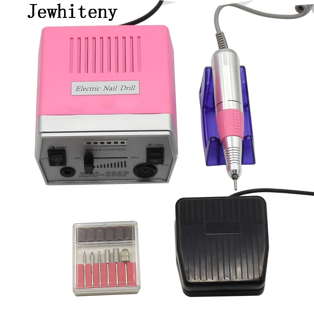 35W pink Pro Electric Nail Art Drill Machine Nail Equipment Manicure Pedicure Files Electric Manicure Drill & Accessory excellet value 1 pc blue medium 3 32 white ceramic nail drill bit manicure professional electric manicure cutter nail tools