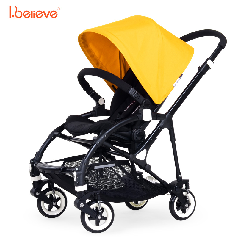 I.believe Baby Stroller I-S018 Natural rubber four-wheel shock absorbers Folding Baby Carriage 0-3 Years Pram SGS certification