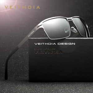 Image 1 - VEITHDIA 2020 גברים של משקפי שמש מקוטב UV400 עדשת שמש משקפיים מלבן נירוסטה משקפיים Eyewear אביזרי עבור גברים