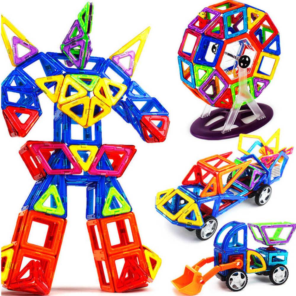 ขนาดใหญ่ 3D แม่เหล็ก Designer ชุดก่อสร้างแม่เหล็กพลาสติกบล็อกแม่เหล็กของเล่นเพื่อการศึกษาของเล่นสำหรับของขวัญเด็ก