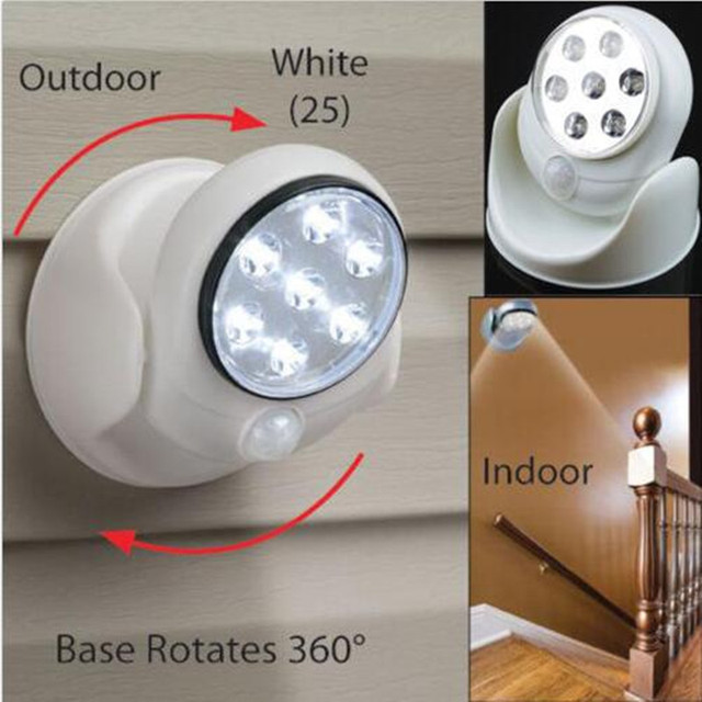 New Hot Motion Activated Sensor Stick Up Led Light Wall Lamp On The